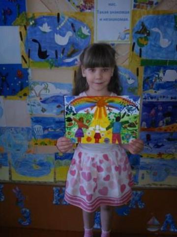 Конкурс детского  рисунка «Мир детям» в группе Василёк.