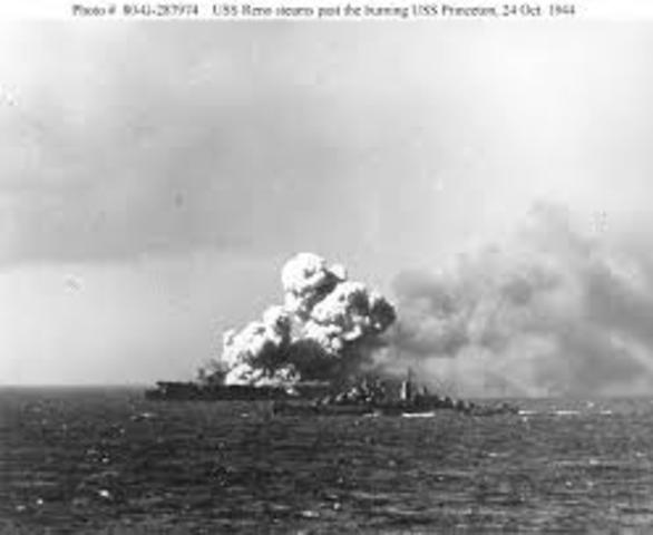 The end of the Leyte Gulf Battle