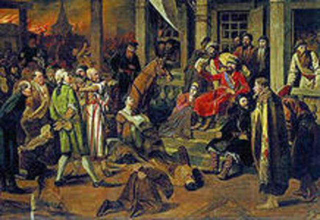 Окончание восстания под предводительством С.Т. Разина