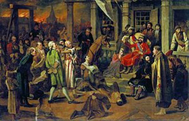 Окончание восстания под предводительством Е.И. Пугачева
