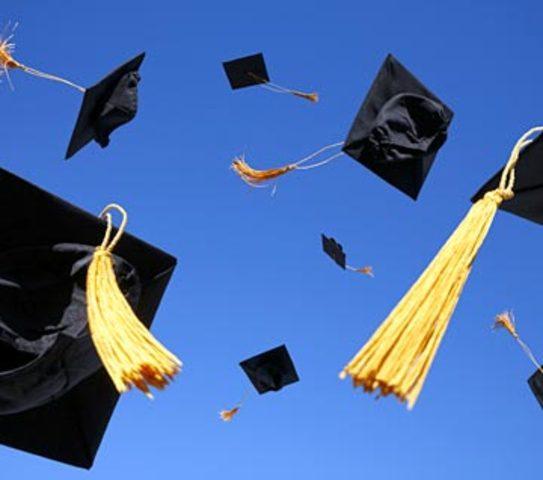 Mae graduates from high school