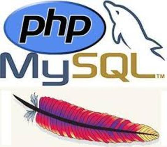 Empieza el desarrollo de Apache y primer version de MySQL