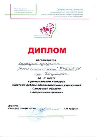 """Региональный конкурс """"Система работы с одаренными детьми"""""""