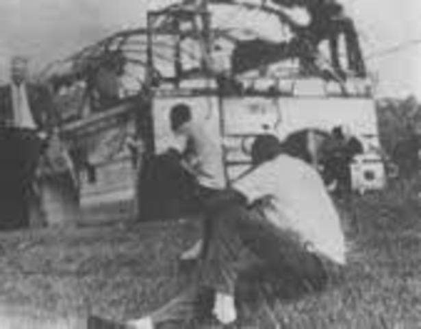 Freedom Riders attacked