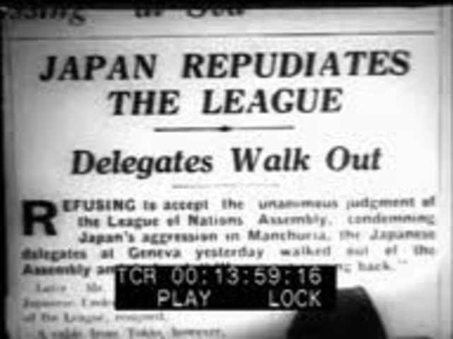 Japan  withdraws form the league of nations