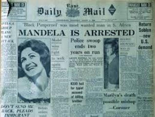 Mandela Arrested