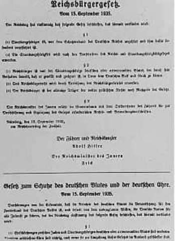 First Anti-Semitic law is passed in Germany