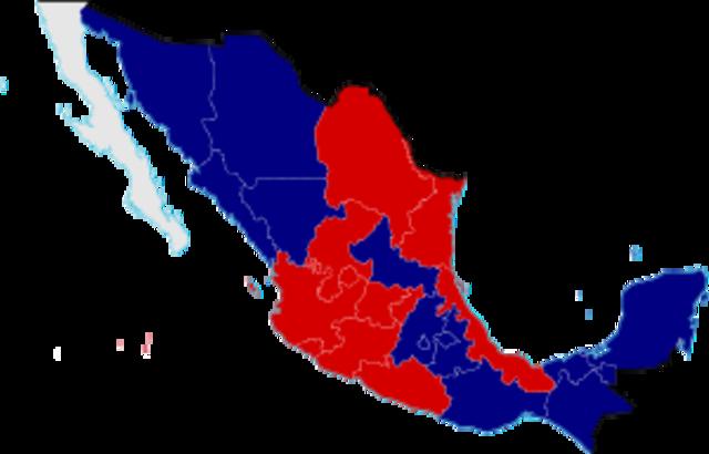 Empeza de la Guerra de Reforma Mexicana