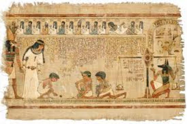 Egyptianpapyrus scrolls 1900-1800 B.C.