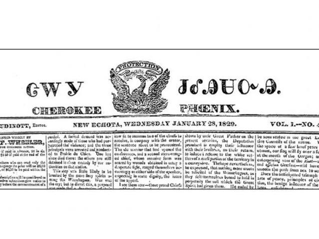 1828 – First NativeAmerican newspaper in U.S.: Cherokee Phoenix