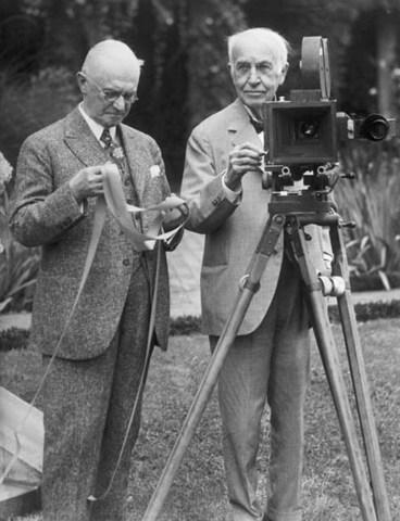 Edison lab develops movie camera