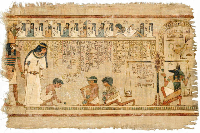 Egyptian papyrus scrolls