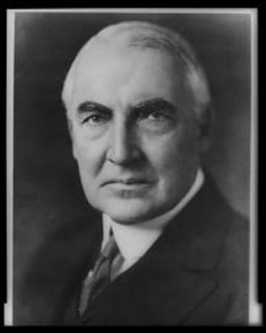 Warren. G. Harding elected President