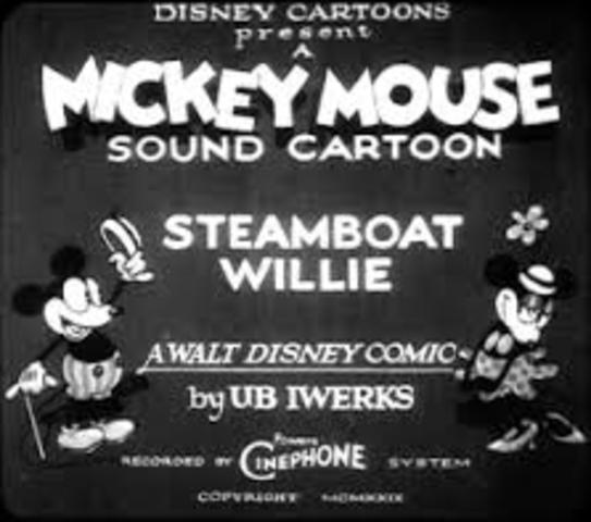 Walt Disney's Steamboat Willie is created