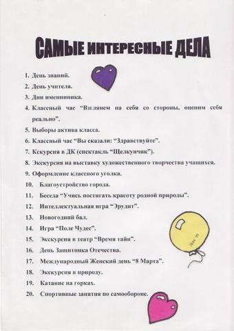 Летопись 5А класса - классный руководитель Гунина Екатерина Ивановна