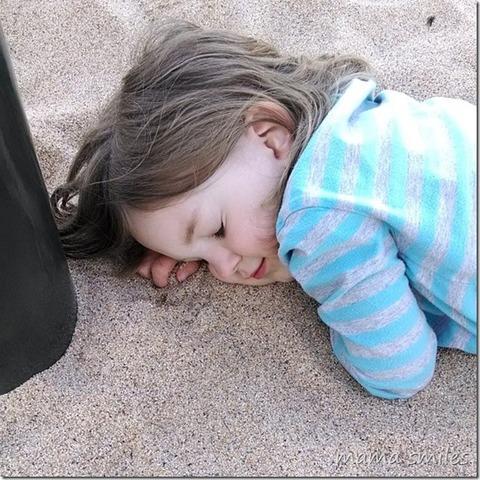 Cuando yo tenía siete años, yo copíaba mi hermana, y yo creía dibujos, y yo pretendía estar dormida.