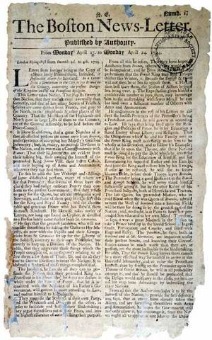 First successful American newspaper: The Boston News-Letter