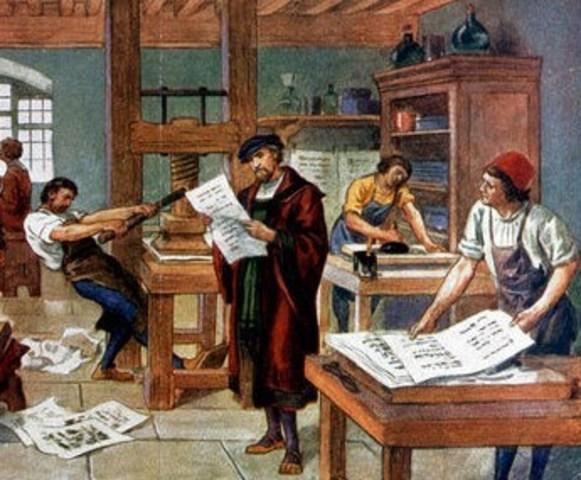 1450 d. C.  Invención de la Imprenta