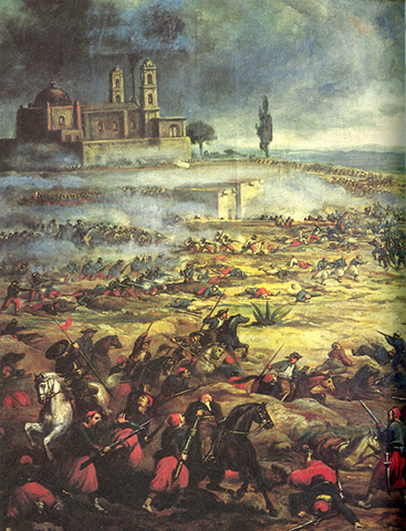 British, French & Spanish troops attack Mexico