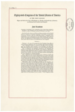 The 25th Amendment was ratified