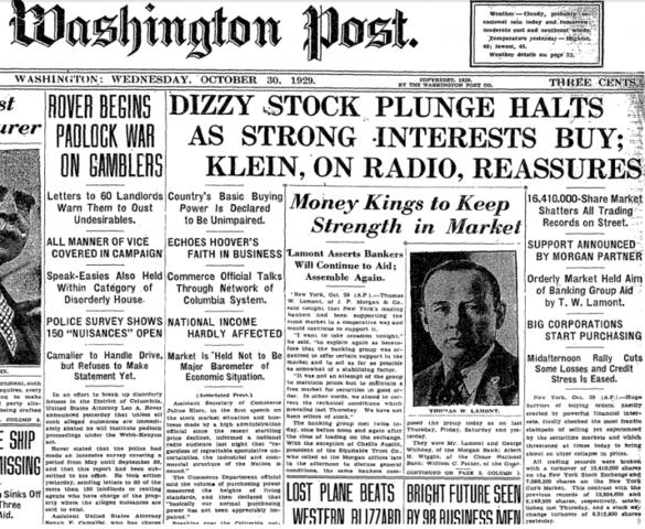 Crash of 1929