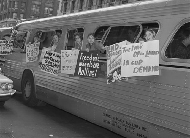 Interstate Commerce and Commission desegreated busses and trains