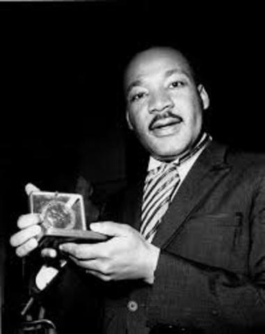 Dr. Martin luther King was the youngest person to win the nobel peace prize in 1964.