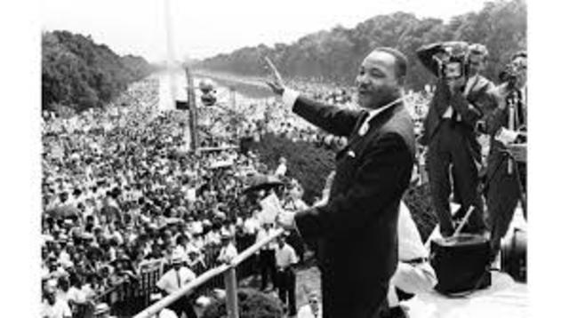 "Martin Luther King Jr. gave his famous ""I Have a Dream"" speech."