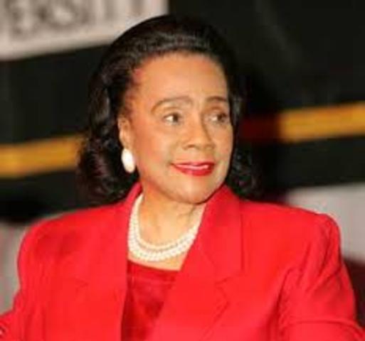 Coretta Scott King died.