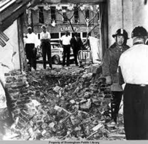 A church got bombed.