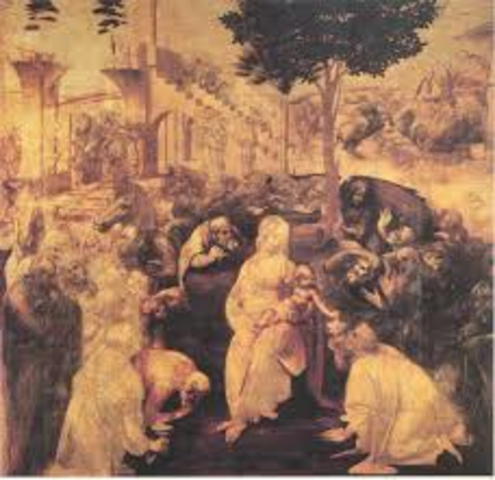 Leonardo was accepted by the painters guild in Florence