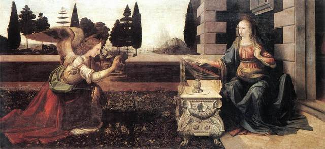 The Annunciation was painted