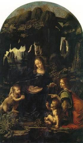 Paints Virgin of the Rocks