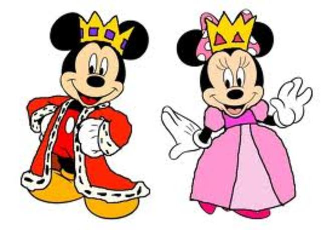 Mickey and Minnie mouse are a couple