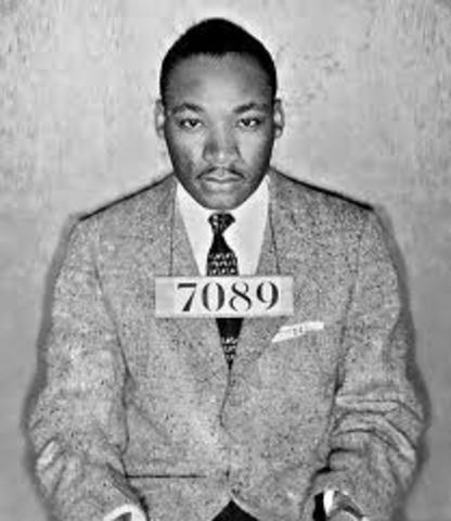 1963 Martin luther king was arrested.