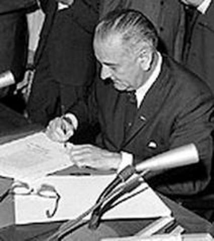 President Johnson signed the Civil Rights Act in July 2,1964.