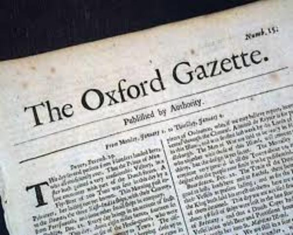 Oxford Gazette in England