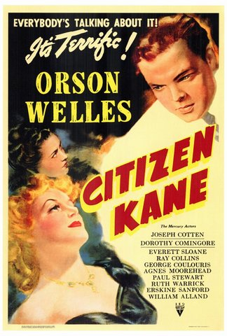 Welles's Citizen Kane released; sometimes called the best movie of all time