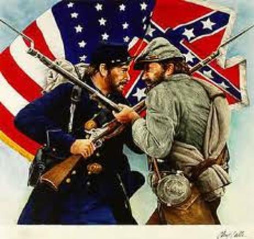 Beginning of the American civil war