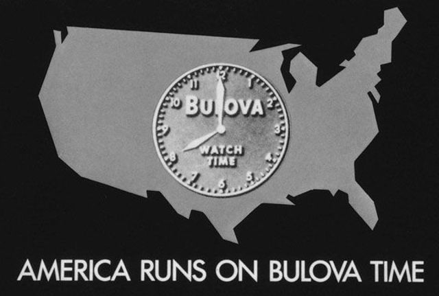 First TV commercial advertises a Bulova clock