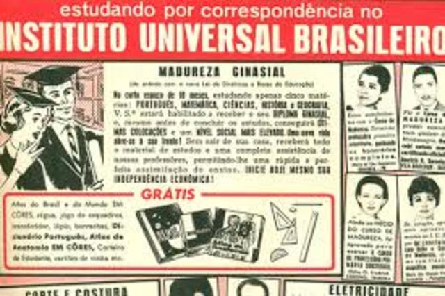 Criação do Instituto Universal Brasileiro.