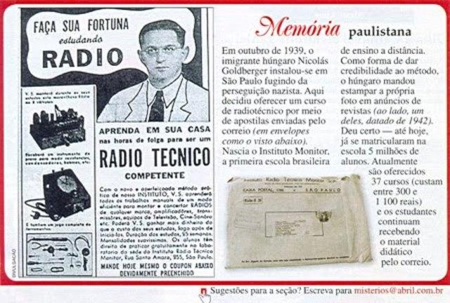 Jornal do Brasil anuncia curso de datilografia