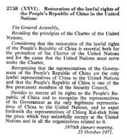 UN Resolution 2758