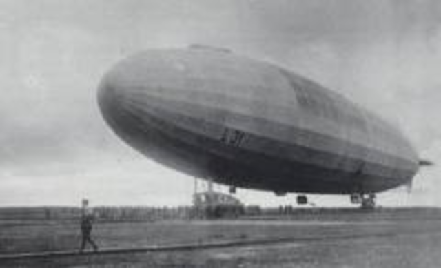 The first Zeppelin raid on Britain