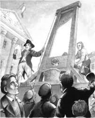Guillotine (1st time used in France)