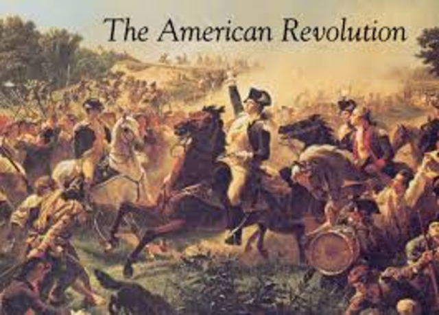 The American Revolution (date not exact)