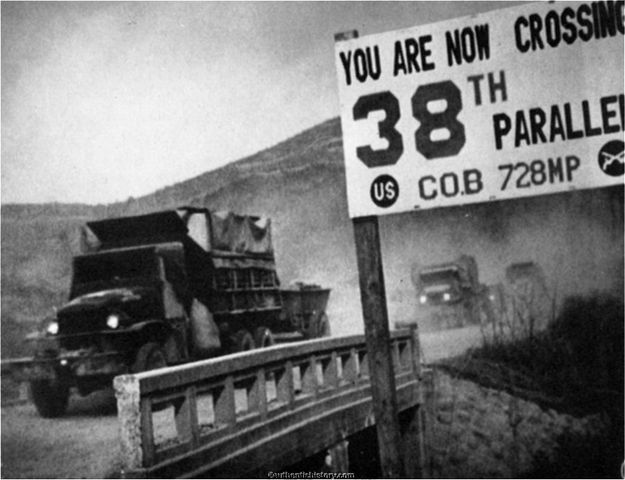 U.S crosses 38th parallel