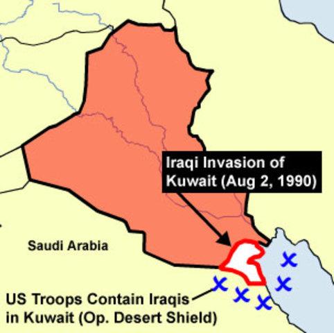 Iraqu invades Kuwait