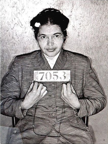 Rosa refuses to give up her seat to a white man and is arrested. This is the start of the Montgomery Bus Boycott.