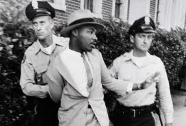 MLK arrested for the first time